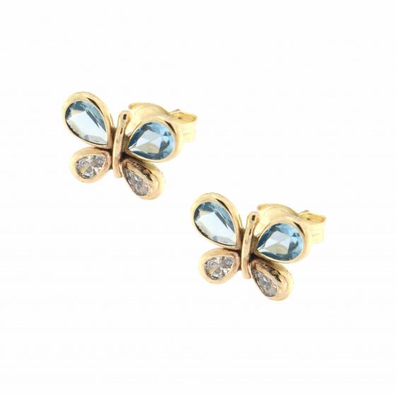 Κίτρινος Χρυσός 9Κ - Πεταλούδες